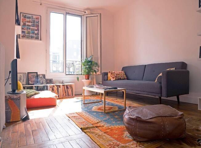 Appartement cosy à proximité de la Villette