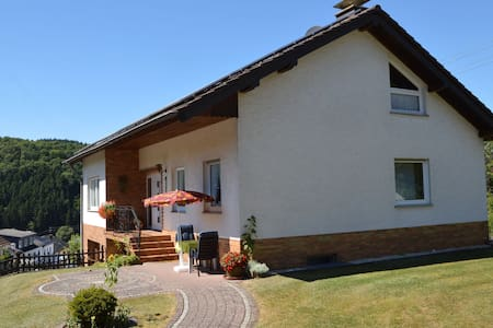 Nice detached holiday home with magnificent view in the picturesque Eifel village of Densborn