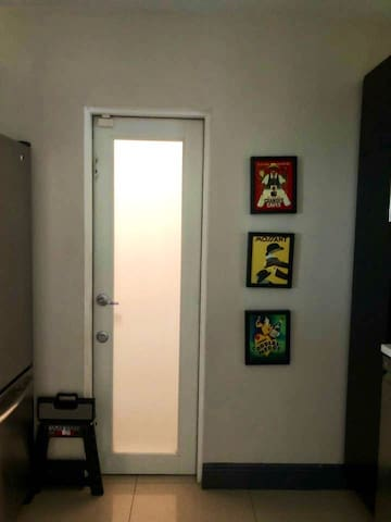 Exit to laundry room