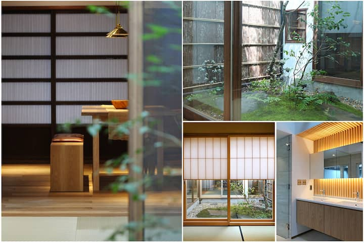 4-6' TO GION, IN GEISHA DISTRICT, LUXURY TOWNHOUSE
