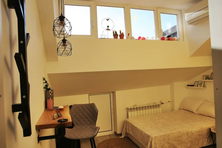 Cosy and bright loft studio in Sofia downtown