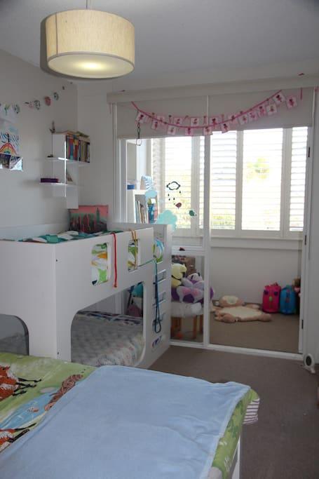 Kids bedroom and sunroom