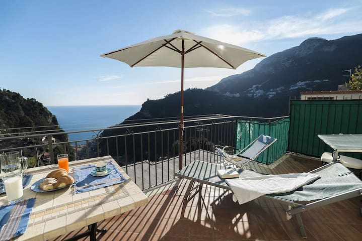 Villa Genziana Amalfi coast seaview - Pontone - Huis