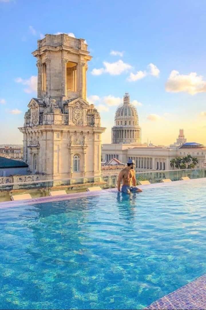 Enjoy the sunset in Havana