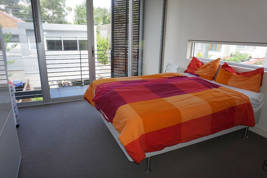 Masterbed room with ensuite bathroom and balcony