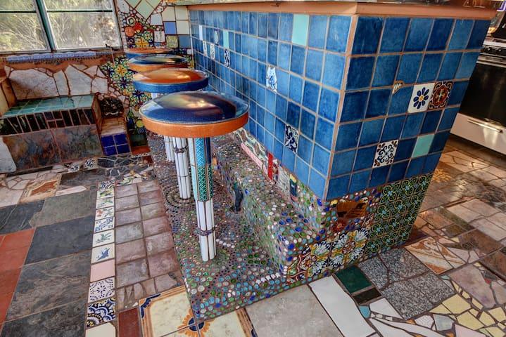 Bar Stools in Kitchen ©2o17 Hannah Smith