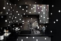 Immerse yourself in the dotty kitchen
