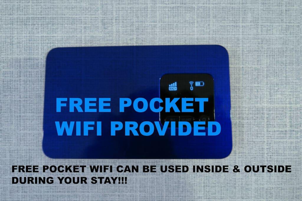 Free pocket wifi provided