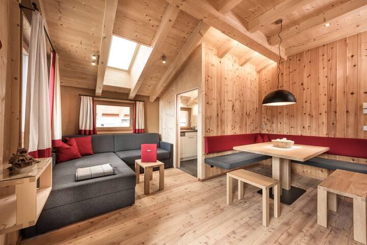 Wohnung an Skipiste mit Infrarotkabine - 2 Pers.