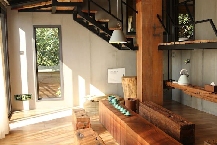 长泰山水畔树屋山景B1-森林野奢别墅,三房一厅独立空间