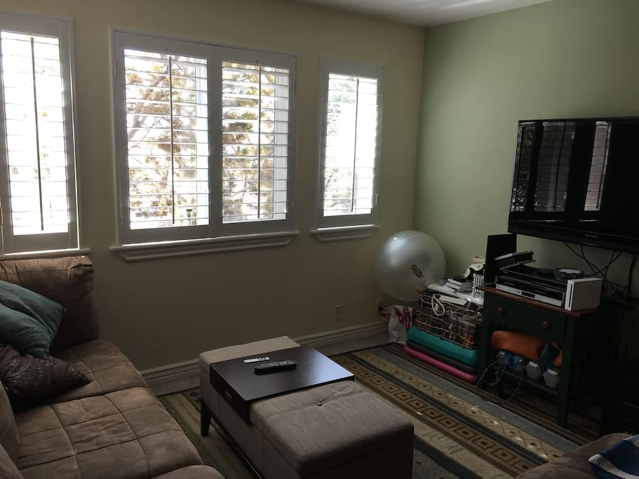 Large TV and living room space