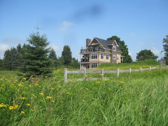View of the house from the Greater Moncton Trail System