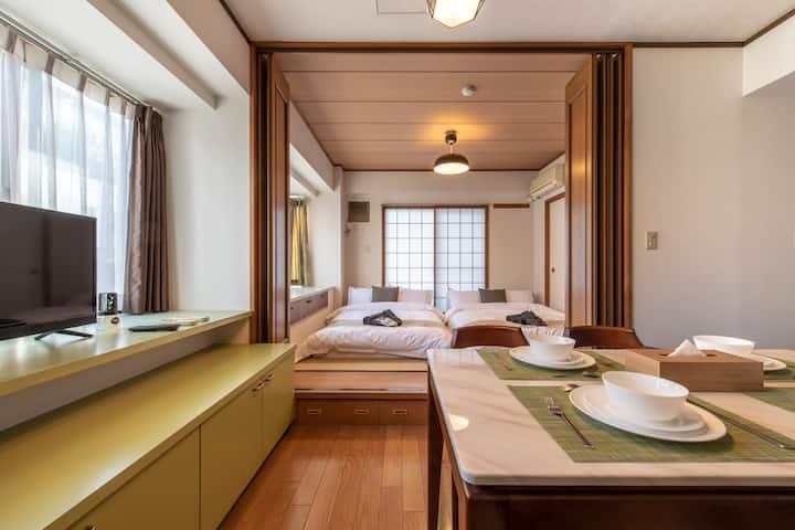 3分钟即达惠比寿 最大可住8人 简式风格&摩登公寓免费WIFI