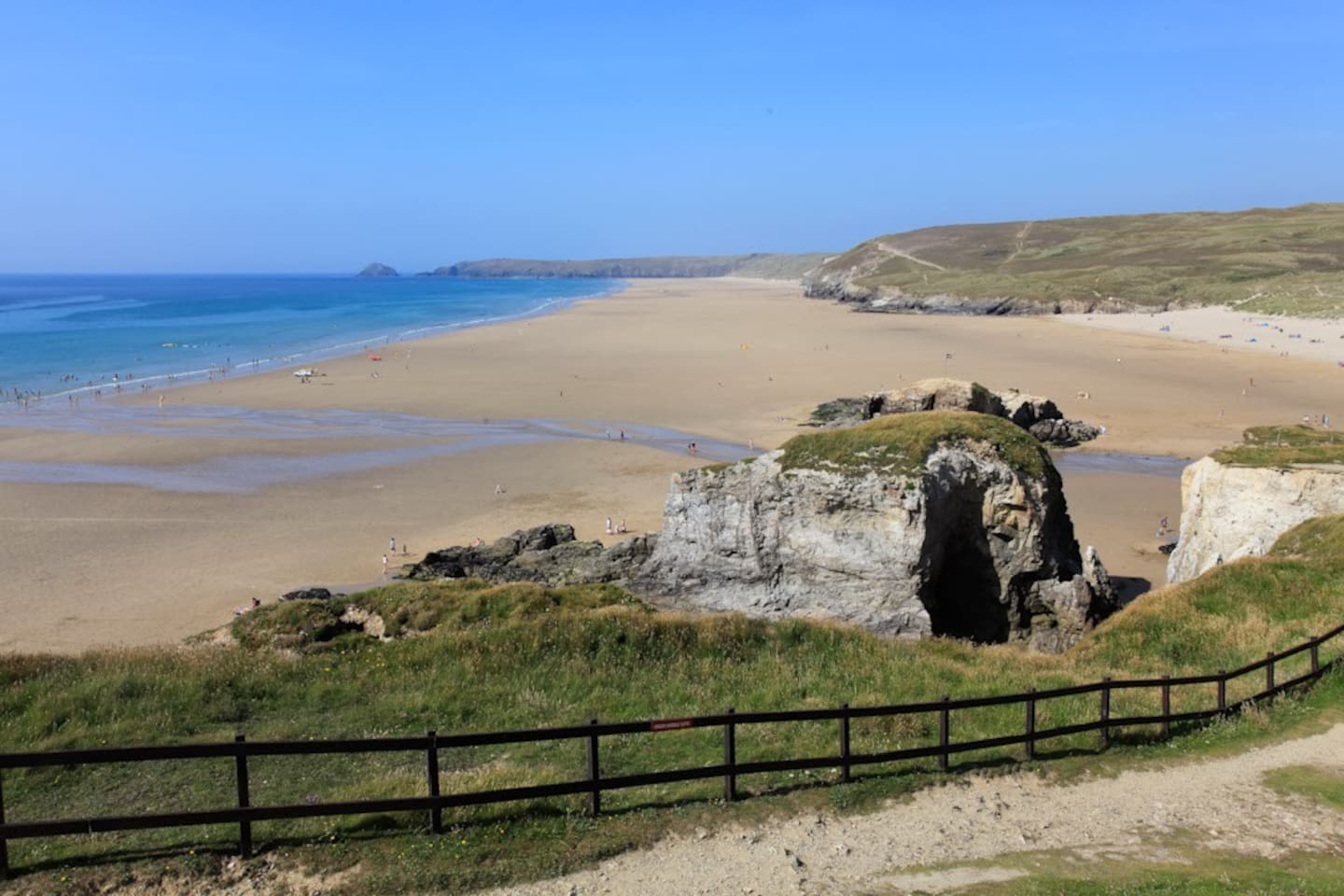 Perranporth Beach, 3 Miles of Golden Sands. Accessible from our static.