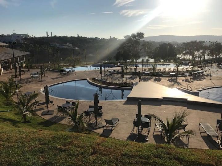 Ilhas do Lago Eco Resort - Apto 2Q - Até 8 pessoas