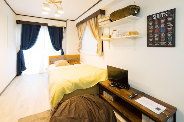 5分钟步行到车站 位于新宿的舒适公寓/您外出旅行的不二之选 提供免费便携式WIFI#105
