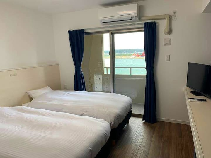 Newly built all OCEAN VIEW rooms/Twin rm