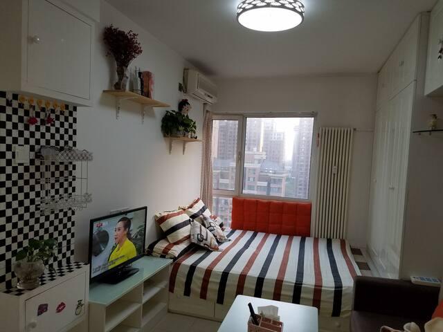 市中心西二环旁日式精装公寓,毗邻北京西站,长安街 离地铁口步行10分钟