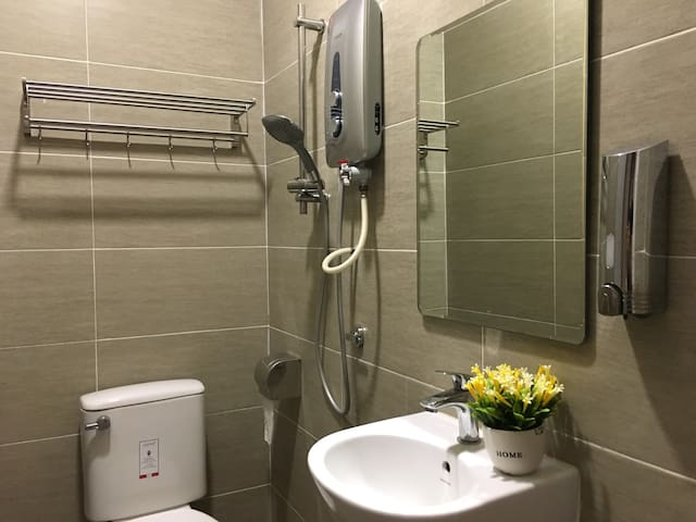 Each room has private bathroom with hot shower