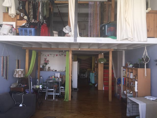 Sunny Artist Loft close to train and downtown