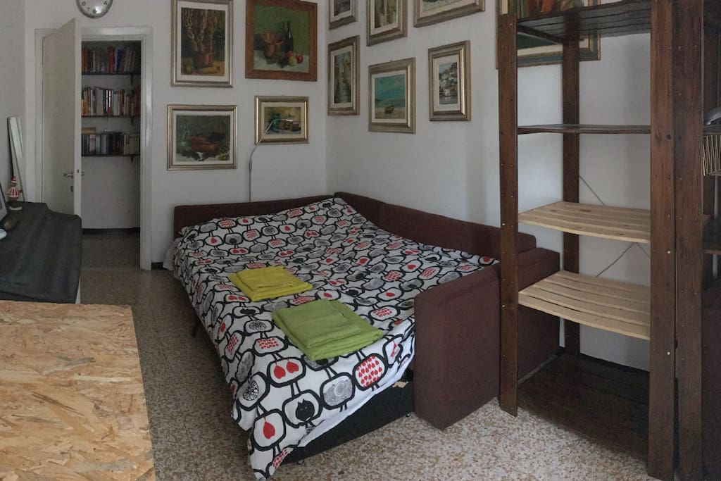 The art room - wooden shelf