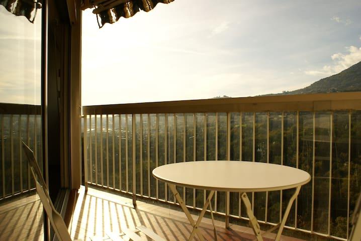 Appartement vue sud sur colinnes - Carros - Apartment