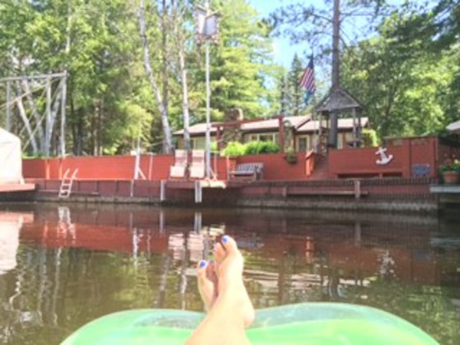 This quiet canal is deep and wide... perfect for floating and relaxing without too much boat traffic!