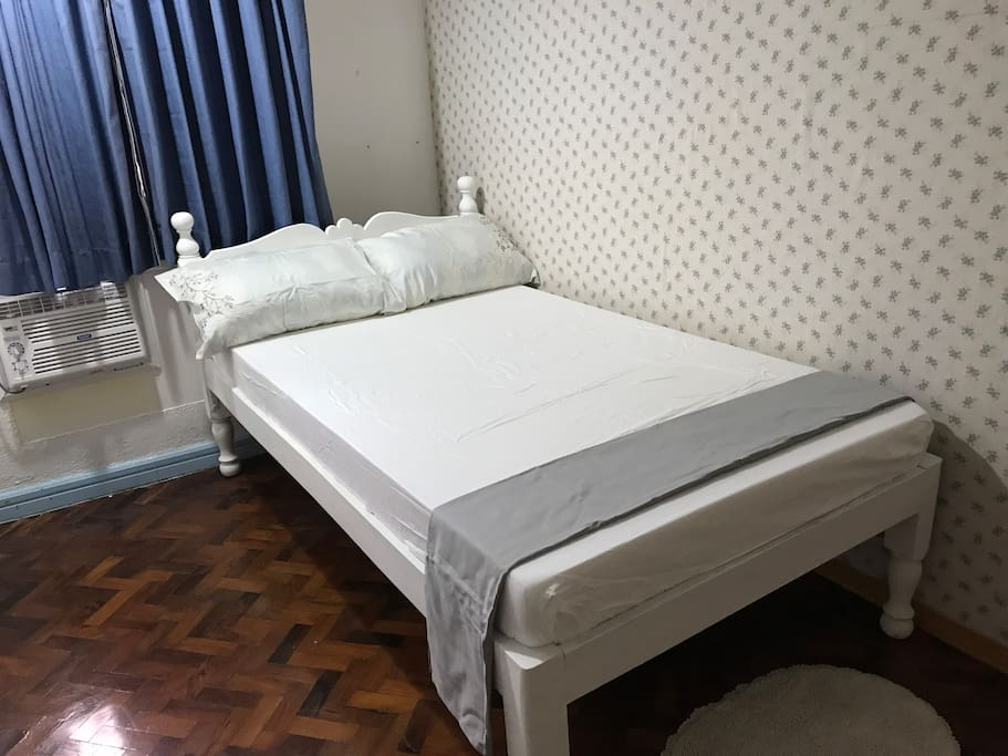 Semi-double bed can be good for two persons