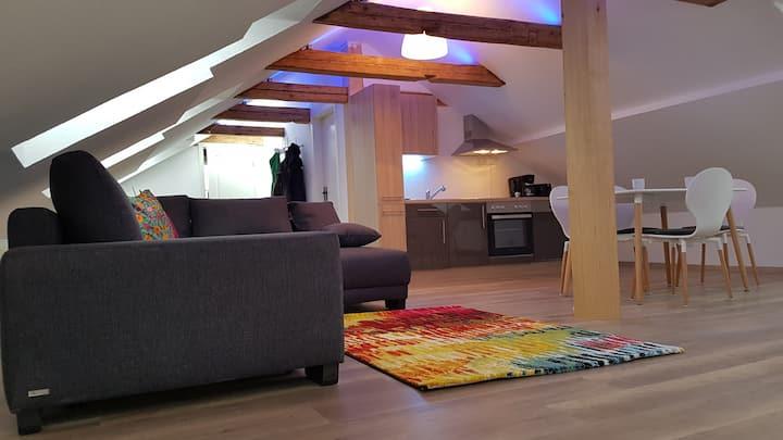zentrale 3 Raum Dachgeschosswohnung Hermann