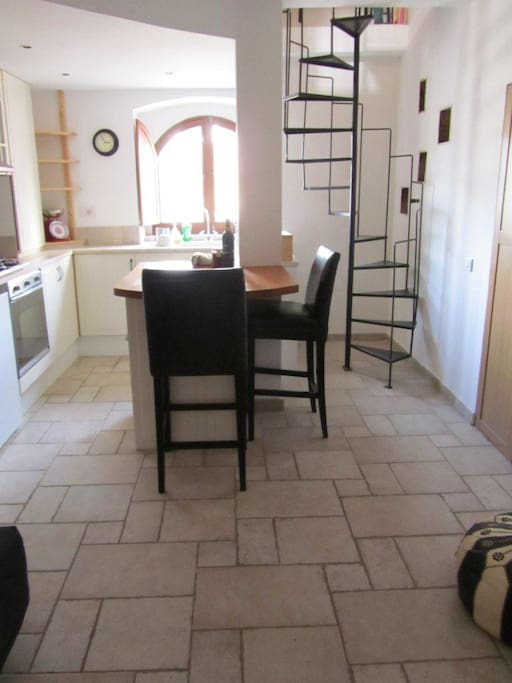 Dove Cote Kitchen and Living Space