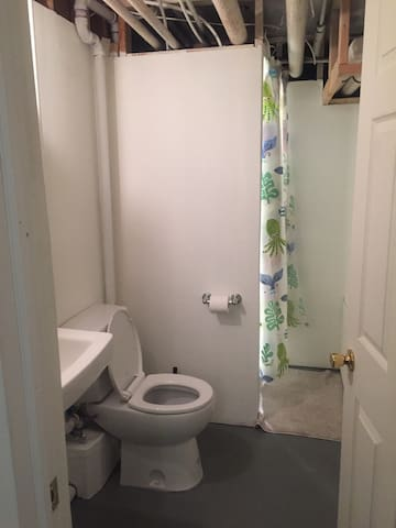 Private Bathroom with shower, toilet and sink