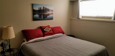 Private room with King bed and TV!