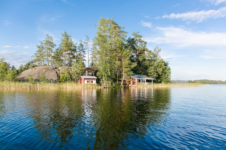 Summer cottage on an island