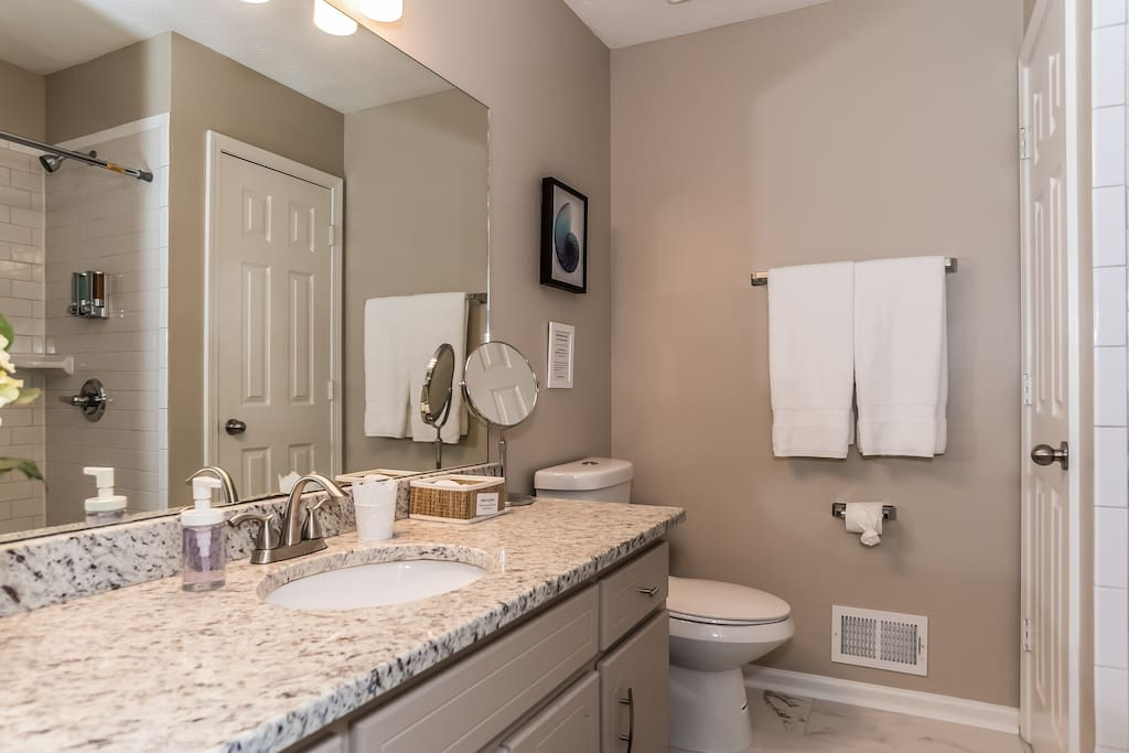 Full Master Bathroom with walk-in shower