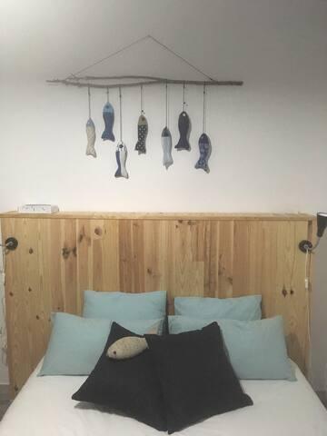 Kamer Azul, dubbel bed, prive badkamer