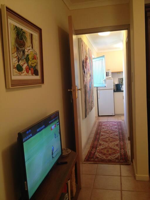 Towards bedroom, entrance, bathroom and kitchenette