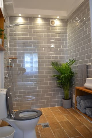 The bathroom renovated  with a great taste