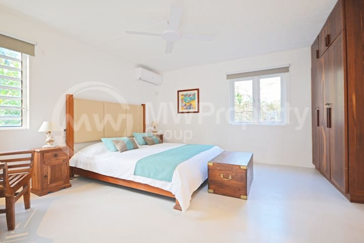 Bedroom Four (Separate bedroom with private balcony, en-suite and sea views)