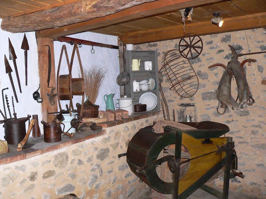 Un musée de vieux outils agricoles