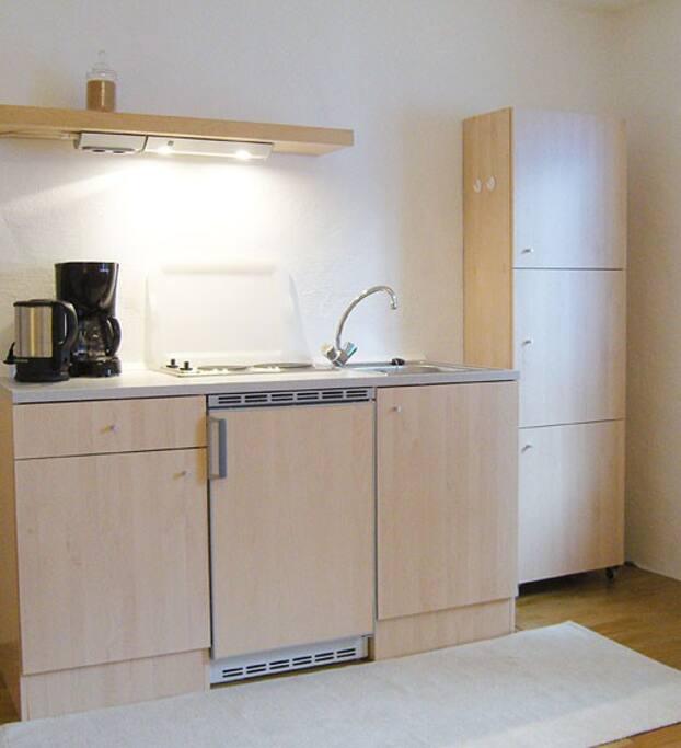 Eigene Küchenzeile mit allem Komfort ausgestattet