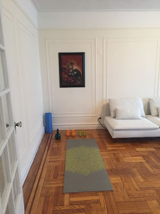 For Yogis - Living room yoga mat