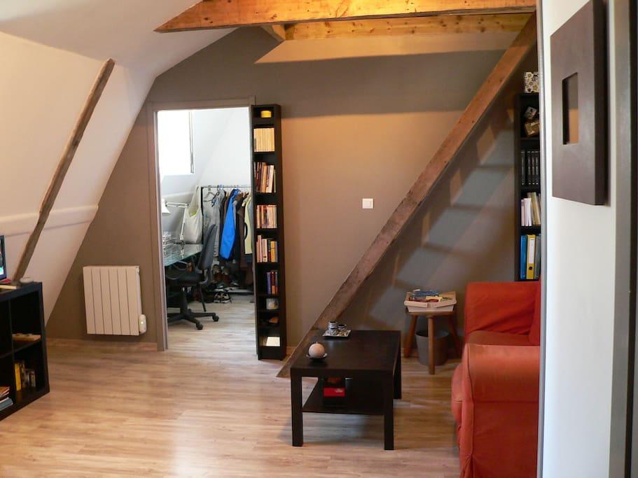 Appartement sous les toits d 39 un immeuble bourgeois for Acheter un appartement 0 bordeaux