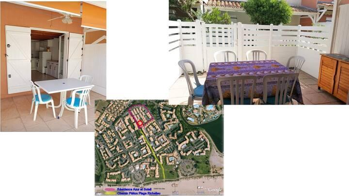 Maison Cap d'Agde 4 à 6 pers. à 300 m de la plage