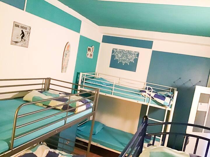 Hutch Hostel 6 bed mixed dorm
