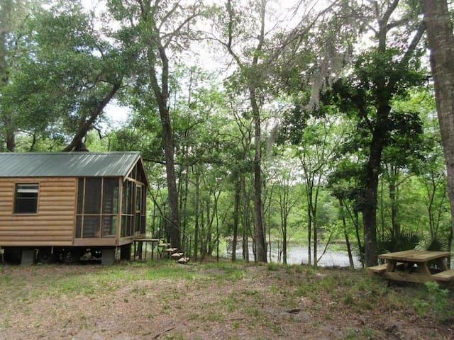 Cozy Riverfront Cabin 1
