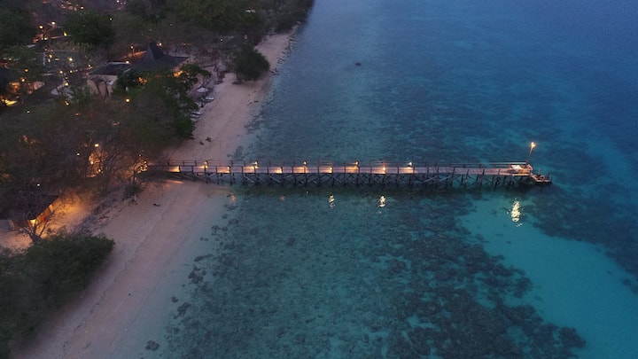 Private villa beach front/middle of  west Jungle