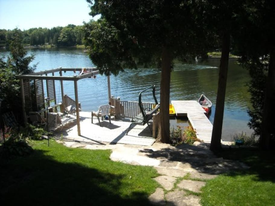 Lake front deck and dock
