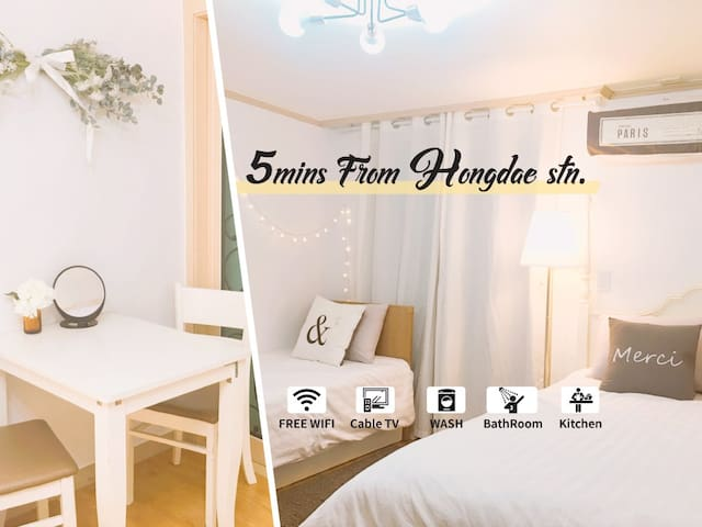 Unique Guest room #5min. from Hongdae Stn