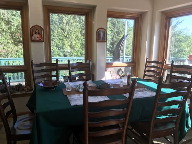Our dining area with a view