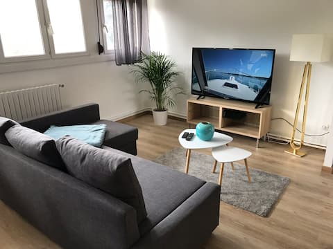 Apartment F2 2 min from Metz 52m2 and free parking